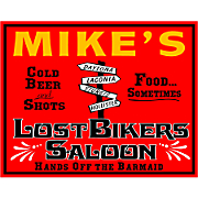 Lost Bikers Saloon Sign