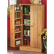 Double Door Pine Pantry