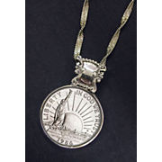 1986 Statue Of Liberty Commemorative Half Dollar Pendant