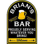 Bar With Beer Sign