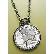 1927 Peace Dollar Replica Pendant