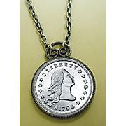 1794 Stella Flowing Hair Dollar Replica Coin Pendant