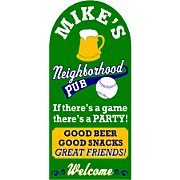 Good Beer Good Snacks Sign