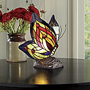 Lamp Stained Glass Butterfly
