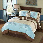Brookfield Embroidered Comforter Set and Window Treatments
