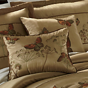Gold Butterfly Embroidered Pillow Set