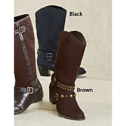 Stud and Buckles Boot By Classique