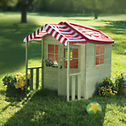 Red Roof Wooden Play Cottage