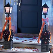 4 feet Halloween Lamppost With Mini Lights