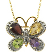 Pendant Gemstone Butterfly