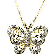 Pendant Butterfly Diamond Accent