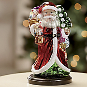Glass Santa Ornament Figurine