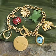Charm Bracelet Personalized Good Luck