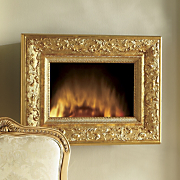 Wall Fireplace Gilded Frame