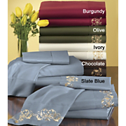 Embroidered Microfiber Sheets