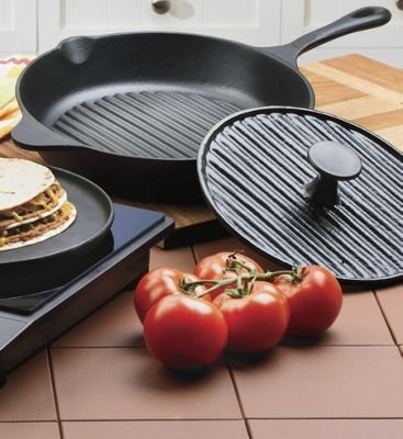 Cast Iron Ribbed Grill Pan