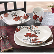 16 Piece Velvet Bouquet Dinnerware Set