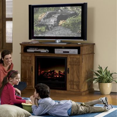 Mission Fireplace TV Stand