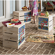 Cherry Orchard Crate Bench And Stools