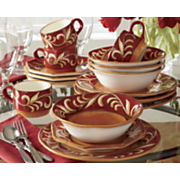 Vine Rim Dinnerware, 16-Piece Set