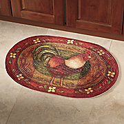 Rooster Braided Rug