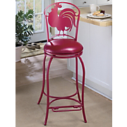 Red Rooster Metal Stool
