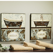 Bath Bliss Prints Set Of 2