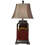 Table Lamp Glazed Burgundy