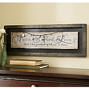 Faith Hope Love Plaque