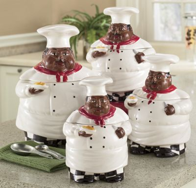 Happy Chef Canisters 4 Piece Set