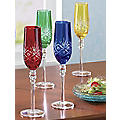 Set Of 4 Etched Flutes