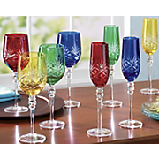 4 Piece Etched Glassware Sets