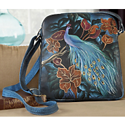 Peacock Hand Painted Leather Bag
