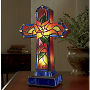 Cross Lamp Stained Glass