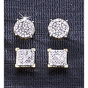 Earrings Post Diamond Cluster