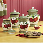 Canisters Apple On Branch 4 Piece Set