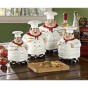 Canisters Ceramic Chefs 4 Piece Set