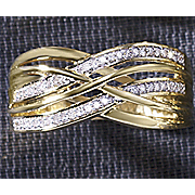 Ring Crisscross Diamond
