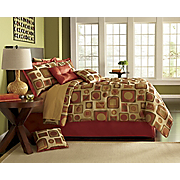Sutton Square Comforter Set and Window Treatments