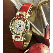 Watch Holiday Wreath Cuff