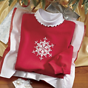 Sweatshirt Jeweled Snowflake
