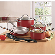 10 pc Premium Nonstick Aluminum Cookware By Farberware