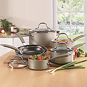 10 pc Enhanced Silver Nonstick Cookware By Farberware