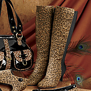 Stretch Back Leopard Print Boot By Freshica