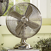 Brushed Nickel Table Fan By Hunter