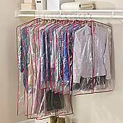 Zippered Plastic Garment Bags