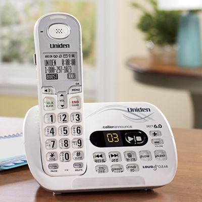 Loud and Clear Cordless Phone By Uniden T coil Hearing Aid Friendly