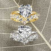 Heart round Bridal Set