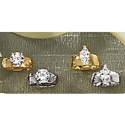 Marquise Or Round Solitaire Rings