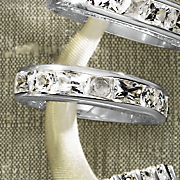Emerald cut round Anniversary Band